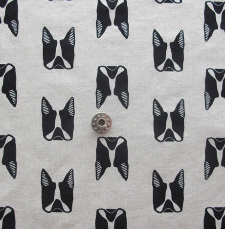 Maker Maker Boston Terrier Print Fabric