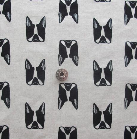Maker Maker Boston Terrier Print Fabric