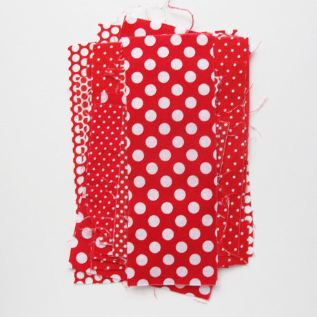 Red polka dot scraps