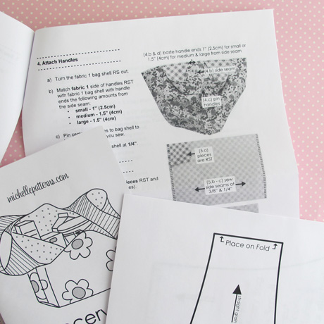 Cover sheet instructions and pattern pieces