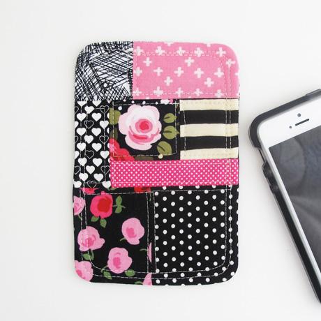 Pink and Black Phone Coaster