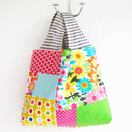 Small Patchwork Grocery Bag