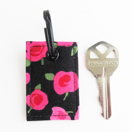 Ava fabric key ring charm