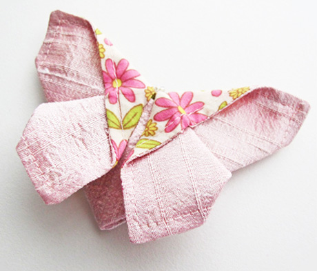 Silk origami butterfly