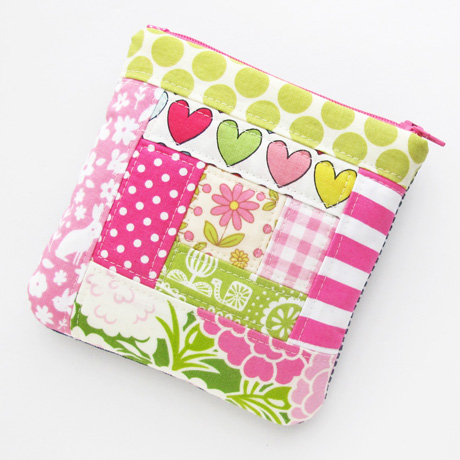 #12 patchwork pouch
