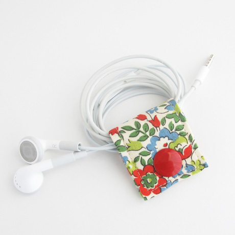 Red and Blue Floral Cord Keeper