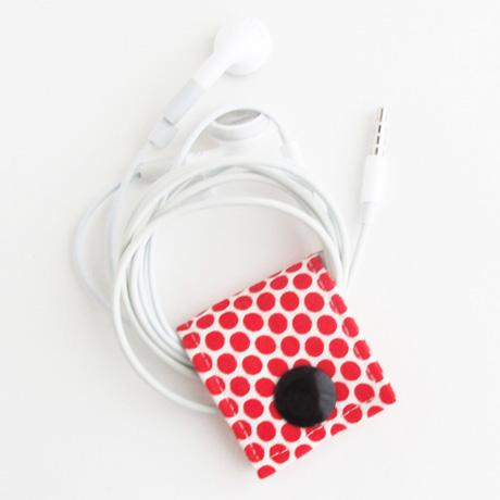 Moda Red Dot Fabric Cord Keeper