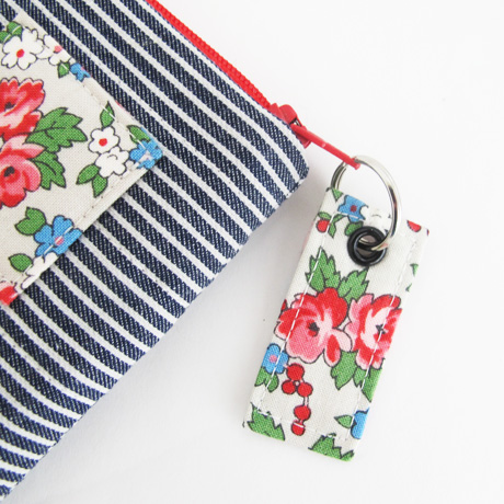 Fabric Zip Pull with Eyelet and Split Ring