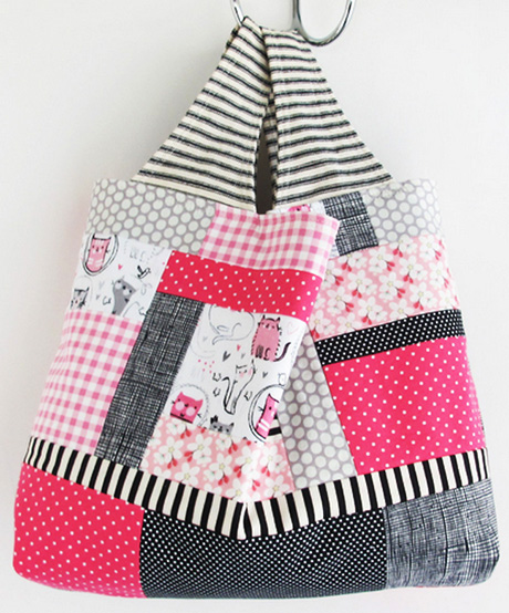 Kitty Patchwork Bag