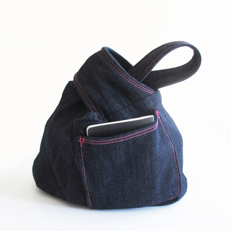 Denim Knot Bag