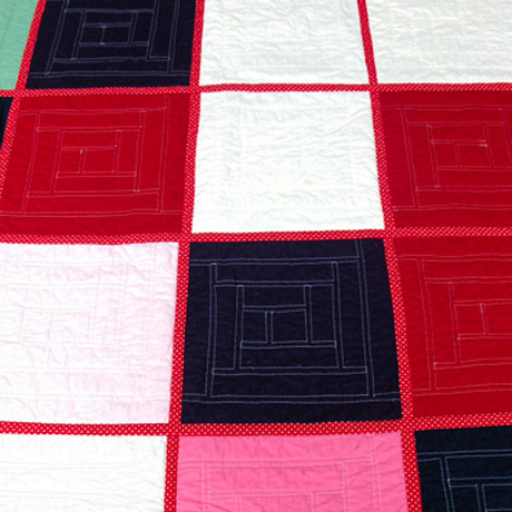 Back of QAYG quilt