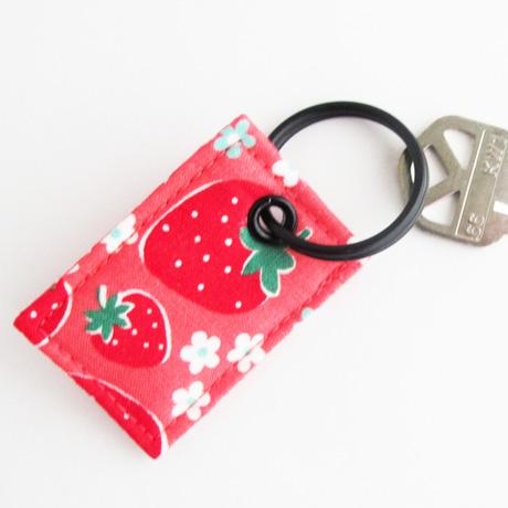 Atsuko Matsuyama Strawberry Fabric Key Ring Charm