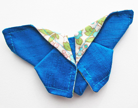 Silk fabric origami butterfly