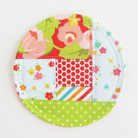 Colorful fabric coaster 2018.3
