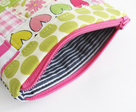 #12 patchwork sample pouch lining