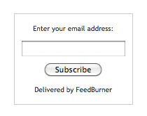 Receive blog posts by email