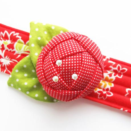 Red pincushion cuff