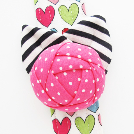 Bright Pink Pincushion Cuff