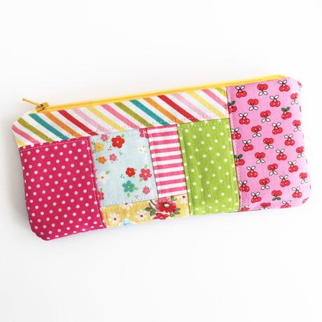 Patchwork zip pouch
