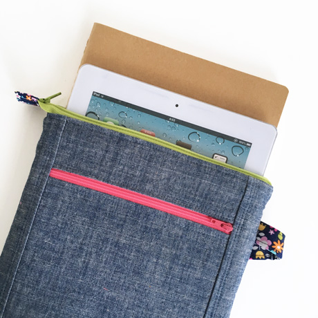Chambray ipad pouch