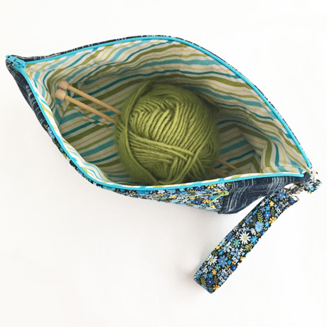 Project bag for knit or crochet
