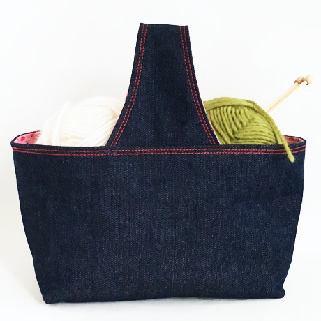 Denim Basket Bag