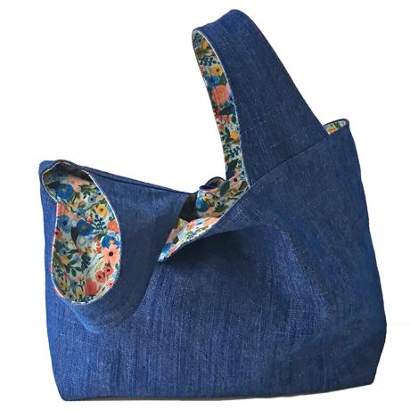 Bluebottle Field Denim Large Grocery Bag