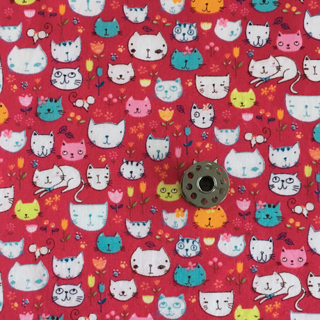 Tiny Story Cat Fabric