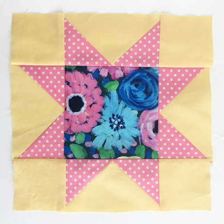 Sawtooth Star Quilt Block 2