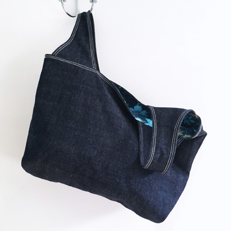 Dark Denim Grocery Tote