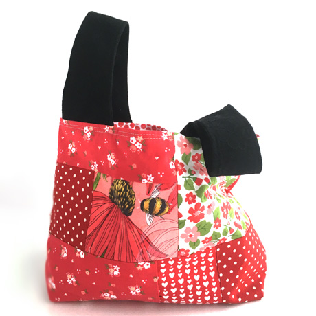 Small Patchwork Bag in Red