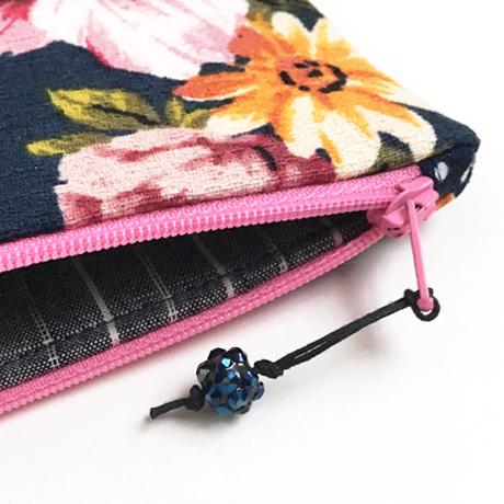 Blue Bead Zipper Pull