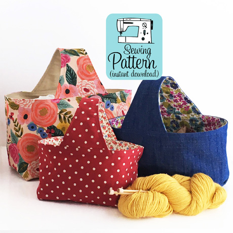 Basket Bags PDF Sewing Pattern