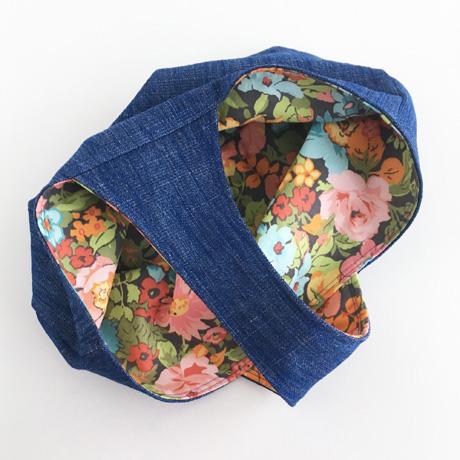 Cobalt Denim Basket Bag Lining