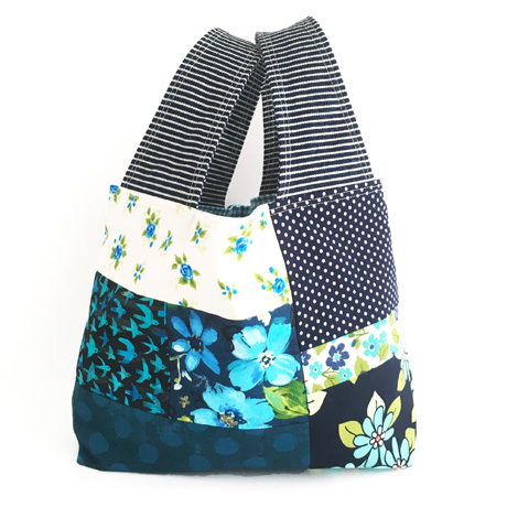 Small Blue Patchwork Bag