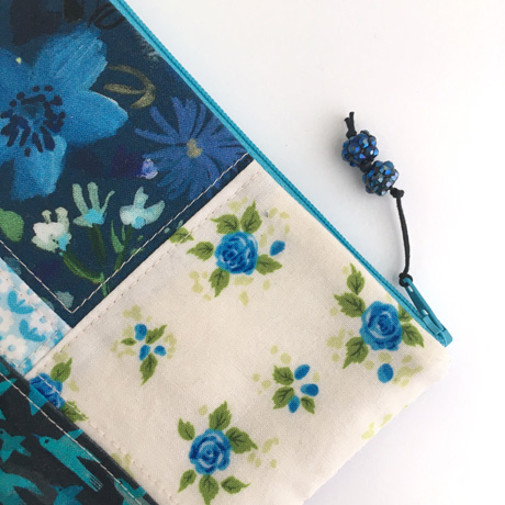 Blue Beads Zip Pull